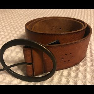 American Eagle Wide Brown Leather Belt Size M